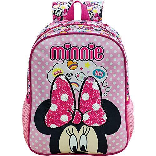 Mochila Escolar 16, Minnie Mouse, 8932, Rosa