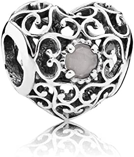 791784msg June Signature Heart Charm