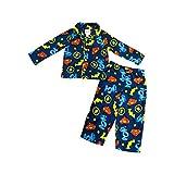 Komar Kids Justice League America Boys Logo Style Pajama Set (4T) Blue