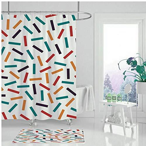 XCBN Rideau de Douche étanche Peinture géométrique Rideau de Salle de Bain Rideau de Douche de Haute qualité pour la décoration de la Maison A9 180x200cm