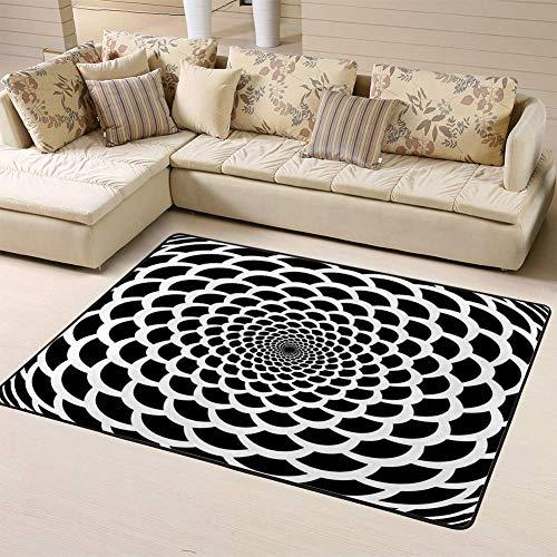 Liz Carter 63X48 inch Teppiche Teppich Schlafzimmer Teppich Monochrome Trichter Warpedop in Op Latticedd Teppich an