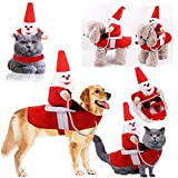 <span class='highlight'><span class='highlight'>ZQEU</span></span> Dog Christmas Costume Santa Claus Riding on Dog Pet Cat Suit, Riding Reindeer Clothes Pet for Small to Large Dogs