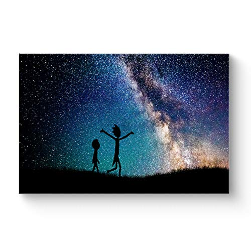 HAOSHUNDA HSD Wall Art Rick and Morty Posters On Canvas Oil Painting Posters and Prints Decorations Wall Art Picture Living...