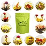 LWXLJMJZC-12pcs Individually Wrapped Blooming Tea,Jasmine Flowering Tea, Green Tea with Natural Flowers