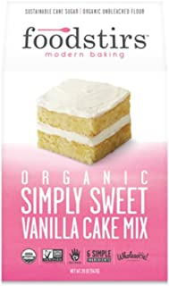 Foodstirs Cake Mix, Organic Vanilla, 20 oz