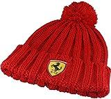 Cuffia Ferrari Ufficiale Cappello PON PON Bambino Kids Cappellino Berretto Scuderia Cavallino Rossa PONFERBAROS