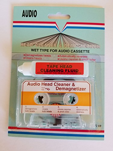 Audio cinta de casete limpiador de cabezal cartucho demagnetizer tipo húmedo para casa coche o portátil cubiertas