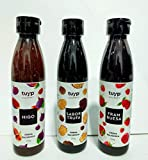 Crema vinagre balsámico Tuyp Gourmet Pack de 3 sabores HIGO , TRUFA y FRAMBUESA de 270g