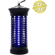 Fomei Mosquito Killer Bug Zapper - Non-Toxic LED Mosquito Bug Pest Trap Lamp, Flying Insect Pest Bug Mosquito Repellent Night Light Zapper Repeller with Hook for Home, Indoor, Bedroom, Kitchen