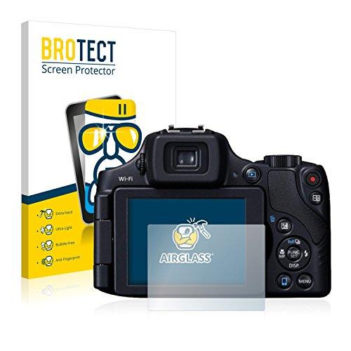 BROTECT Panzerglas Schutzfolie kompatibel mit Canon PowerShot SX60 HS - AirGlass, 9H Härte, Anti-Fingerprint, HD-Clear