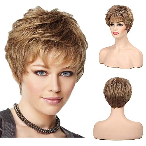 Top 10 real hair wigs short white for 2021