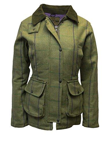 Walker & Hawkes - Ladies Derby Tweed Shooting Hunting Country Jacket - Purple Stripe - 10