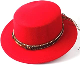 Hat Size 56-58CM Women Men Flat Top Fedora Hat With Wide Brim Church Hat Outdoor Travel Fascinator Hat Pork Pie Casual Wild Hat Fashion Hat