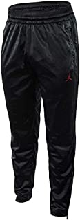 Nike Men's Jordan JSW AJ5 Satin Pant Black/Gym Red AR3137-010