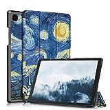topCASE Soporte Funda Protectora para Samsung Galaxy Tab A7 10.4 Pulgadas SM-T500/T505/T507 2020 Carcasa,Ultra Delgado Stand Función Smart Cover Auto-Sueño/Estela,Estrellado