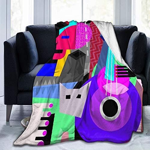 Aliciga Manta de Cama,Picasso la Pareja de Baile y la Mujer Tocando la Guitarra Danza Fina cubismo Abstracto,Sofá Cama de Microfibra para Todas Las Estaciones,40