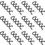 Espiral de Pelo Negro Clips de Pelo Horquilla de Espiral de Pelo Pasador de Moño para DIY de Peinado 20 Piezas