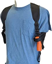 Federal Shoulder Holster for Glock 17, 20, 21, 22, 31,37, Dbl Mag Pouch Horizontal Carry