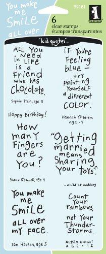 Inkadinkado Cute Friendly Advice Clear Stamp Set, 6pc