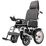 MYJHUIY Silla de ruedas eléctrica plegable,silla de ruedas ligera, joystick de 360 °, viaje de tránsito portátil para movilidad de discapacitados y ancianos