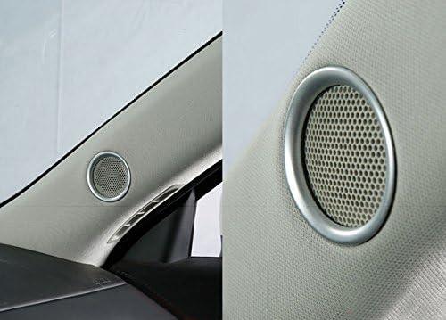 Für Cx 5 Cx5 2017 2020 Silber Matt Interieur Tür A Säule Lautsprecher Interieurleisten Abs Kunststoff 2 Stück Auto