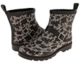 Capelli New York Ladies Lacey Blooms Printed Short Rain Boots Black Combo 11