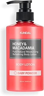 [KUNDAL] Honey & Macadamia Pure Natural Moisturizing Refreshing Body Lotion 500ml (Baby Powder)