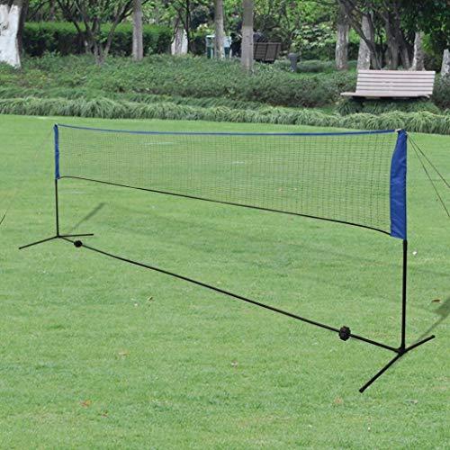 Roderick Irving Badminton Volleyball Netz Badminton Netz Set mit Federbällchen 500x155 cm Badminton Netzgröße 500x72 cm (LxH)