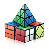 ROXENDA Speed Cube Set, Cubo mágico Conjunto de 2x2x2 3x3x3 Skewb...
