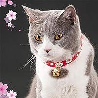 猫 首輪 おしゃれリボン 鈴 蝶ネクタイ 猫用 かわいい 軽量 安全 バックル 調節可能 首周り 20-25cm