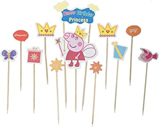 Auch Peppa Cupcake Toppers, Cupcake Picks Cake Decorations Birthday Baby Shower Party Supplies