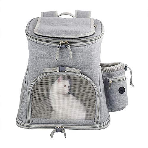 Bolsa de transporte portátil, mochila para mascotas, perros, gatos, para mascotas de compañía, con bolsa de viaje, versátil, plegable y transpirable, capacidad de carga máxima de 15 libras