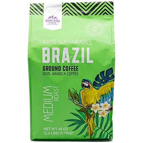 Montana Ridge Brazil Ground Coffee Limited Time Offer, Medium Roast, 40 Ounce