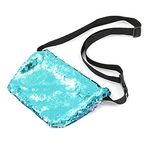 Sparkling Sequins Mermaid Makeup Bag Handbag Belt Glitter Wallet Purse Handbag Comestic Case - #4