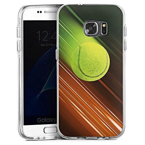 DeinDesign Samsung Galaxy S7 Bumper Hülle Bumper Case Schutzhülle Tennis Tennisball Speed