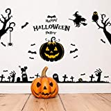 ZTH Halloween Pegatinas de Pared Casa encantada Espíritu Lámpara de Calabaza Pegatinas de Pared Exhibición Ventana Decoración Juego de Pegatinas