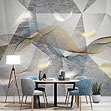 Papel tapiz Fotográfico 3D Pluma geométrica gris Mural Papel Pintado Decoración De Pared Sala...