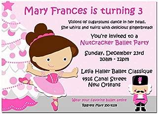 Christmas Party Invitation - Christmas Invitation - Nutcracker Ballerina Princess Birthday Collection - You pick hair style/color and skin tone