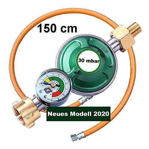 NJ Gasschlauch Propan Zoll 1//4 lks x 8 mm /Übergang Butan 300 cm