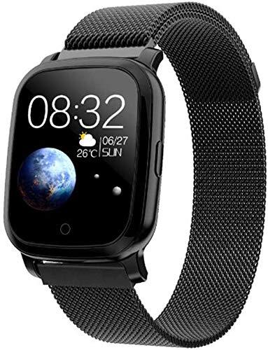 Reloj inteligente de medición de temperatura corporal con monitor de frecuencia cardíaca, rastreador de actividad,IP67, resistente al agua,podómetro,pulsera de acero