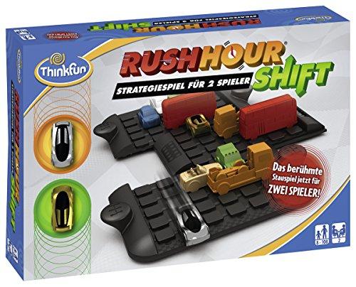 ThinkFun 7630 - Rush Hour Shift - Das bekannte Logikspiel für 2 Spieler, Strategiespiel für Erwachsene und Kinder ab 8 Jahren, Spiel für 2 Personen