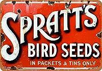 スプラットの鳥の種 金属板ブリキ看板警告サイン注意サイン表示パネル情報サイン金属安全サイン