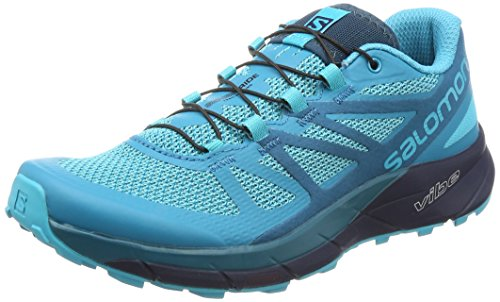 Salomon Sense Ride W, Zapatillas de Trail Running Mujer, Azul (Bluebird/Deep Lagoon/Navy Blazer 000), 38 EU