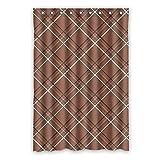 Once Young–Blumen Muster Wasserdicht Polyester-Badezimmer-Dusche Vorhang, Braun 121,9x 182,9cm (120x 183cm), Polyester, K, 48