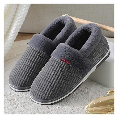 Zapatos caseros zapatillas de interior 2020 Invierno Hombres Mujeres Zapatillas Soft Short Peluche Comfort Comfort Zapatillas Slippers Slip On Cotton Platform Parejas Zapatilla Calzado exterior memori