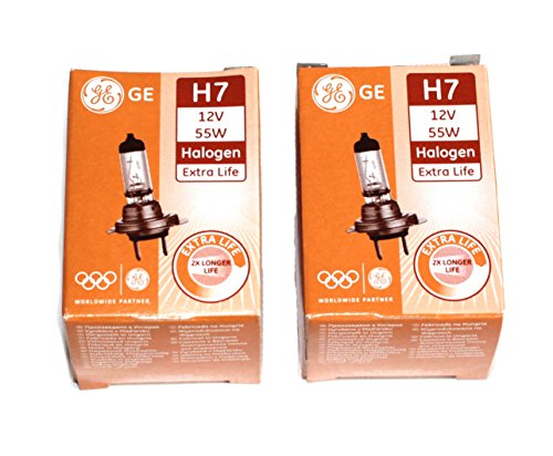 2x General Electric 58520DPU/1 H7 12V 55W PX26D Extra Life Halogen Lampe 2 Stück