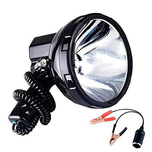 DZX Reflector portátil, lámpara de xenón de Alta Potencia para Exteriores, Caza, Pesca, Patrulla, vehículo H3, reflectores HID, 220 W, Foco para Hernia, Negro