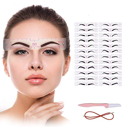 Eyebrow Stencil,24 Fashionable Styles Eyebrow Shaper Kit for Women Reusable Eyebrow Template 3 Minutes Makeup Tools for Eyebrows