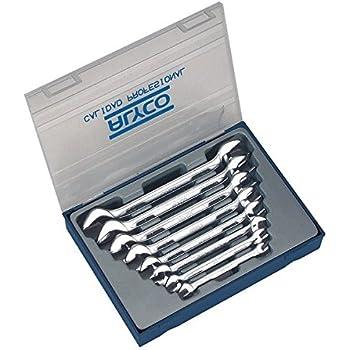 ALYCO 191096 - Juego 8 llaves fijas Cr-V satinado mate bocas pulidas DIN 110 en estuche plastico: Amazon.es: Bricolaje y herramientas