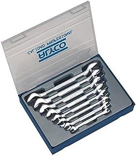 ALYCO 191096 - Juego 8 llaves fijas Cr-V satinado mate bocas pulidas DIN 110 en estuche plastico